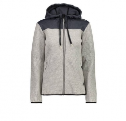 Woman Jacket Fix Hood Fleecejacke Damen