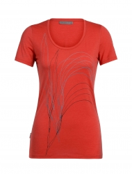 Tech Lite Short Sleeve Scoop Leaf Damen